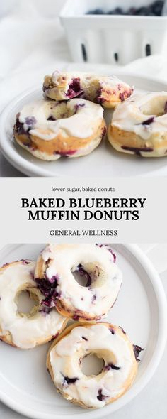 Homemade donuts are a much healthier breakfast recipe than traditional donuts and these Baked Blueberry Muffin Donuts are lower in sugar than typical donuts as well and made with fresh blueberries Baked Donut Recipes, Baked Donuts, Baking Recipes, Dessert Recipes, Blueberry Donuts, Blueberry Cake, Blueberry Breakfast Recipes, Making Donuts, Delicious Desserts