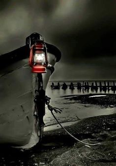 Splash of Red - moored boat with red lantern Splash Photography, Color Photography, Black And White Photography, Contrast Photography, Black And White Pictures, Black And White Colour, One Color, Color Pop, Benfica Wallpaper