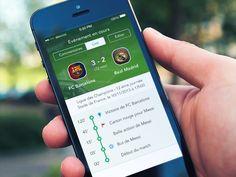 Live Scoring iOS7 App by Alexandre Naud