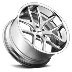 TSW® - PORTIER Silver with Machined Face - Angle View