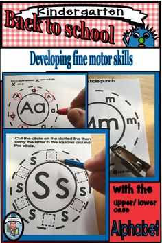 This engaging HANDS ON resource includes fine motor activities that are perfect for small groups, centers, and more! Each of the activities practice learning the alphabet in a fun way!! While using a holepunch, scissors, printing or doing all of the above. #alottathemes finemotor #alphabet Sight Word Practice, Sight Word Games, Nonsense Words, Alphabet Coloring, Learning The Alphabet, Motor Activities, Math Skills, Addition And Subtraction, Hole Punch
