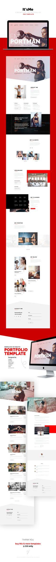 It'sMe - Creative Portfolio PSD Template on Behance