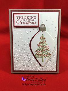 Christmas Cards made with Delicate Ornaments Thinlits Dies Paper Pumpkin Link…