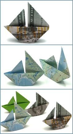 Velero De Papel Papiroflexia Fácil Origami, Home Decor, Paper Folding, Sailing Ships, Tutorials, Paper Envelopes, Manualidades, Decoration Home, Room Decor