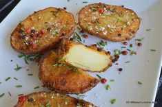 cartofi-in-coaja-la-cuptor Salmon Burgers, Spicy, Potatoes, Ethnic Recipes, Food, Salmon Patties, Eten, Potato, Meals