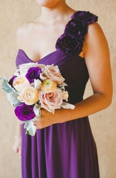bouquets, dusty miller, peach, peony, pink, purple, romantic , rose, bridesmaid dresses, one arm, checkered, shabby chic, Bridesmaids, Fall, classic