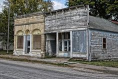 Bank and Storefront (Abandoned) - Elmdale, Kansas (Most of the town has been abandoned due to extreme flooding, especially since 1951.)