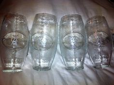 Set of 4 Football Shaped Tumbler Glass by BreProductsnServices, $36.00