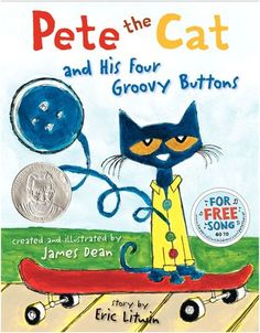 Another wonderful Pete the Cat book! (Pete the Cat and His Four Groovy Buttons: James Dean, Eric Litwin) James Dean, Eric Dean, Wings Of Fire, Animal Gato, Pete The Cats, Children's Picture Books, 10 Picture, Spring Picture, Jars