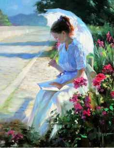 Vladimir Volegov premier art gallery is committed to the philosophy of offering dealer prices to the public on our fine art paintings, and prints. Reading Art, Woman Reading, Vladimir Volegov, Art Amour, Illustration Art, Illustrations, Fine Art, Beautiful Paintings, Oeuvre D'art
