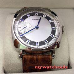 44 MM parnis witte wijzerplaat blauw marks seagull 6497 hand winding heren horloge 341B in beschrijvingbeweging: mechanisch (hand kronkelende) beweging17 juwelen handwind 6497 bewegingwijzerplaat: witdailCase di van mechanische horloges op AliExpress.com | Alibaba Groep