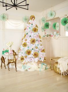 Let your imagination run wild this holiday season. // Oh Joy paper Christmas tree
