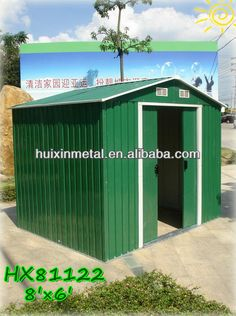 60117 71 square ft 491 cubic ft the lifetime 8 39 x - Green plastic garden sheds ...