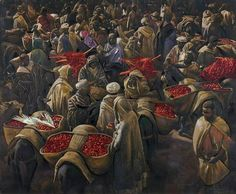 Jacques Majorelle (1886-1962) - Market in Marrakech.  Things of beauty I like to see