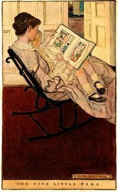 La pasión por los libros se transmite. Nos gusta Five Little Pigs, de Elizabeth Shippen Green
