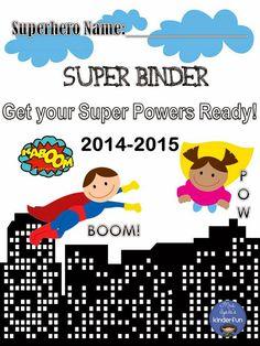 FREE Super Binder Cover  Mrs. Ayala's Kinder Fun