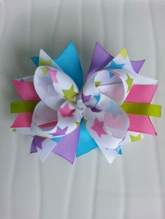 moños Bow Tutorial, Flower Tutorial, Making Hair Bows, Girls Bows, My Baby Girl, Little Princess, Hair Band, Quilling, Hair Clips