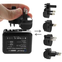 [$5.09] PULUZ 2 Ports USB 5V (2.1A + 2.1A) Wall Charger Set with Removable International UK + EU + US + AU Plug Travel Power Adapters for GoPro HERO4 Session /4 /3+ /3 /2 /1
