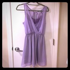 Purple Nasty gal Sundress Cinched waist. Open back with tie. Sexy and cute all at once. Lightly worn. Nasty Gal Dresses