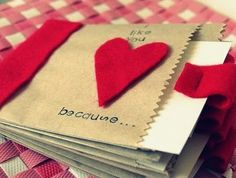Valentine paper bag albums (She: Melissa) - Or so she says...