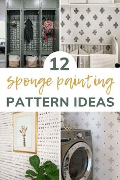 Do you love the sponge paint accent wall trend? Check out these fun and creative patterns that you can DIY quick and easy with kitchen sponges! #spongepaint #sponge #accentwalls #featurewalls #wallpaper Sponge Painting Walls, Diy Wall Painting, Diy Sponges, Wall Paint Patterns, Painted Trays, Easy Wall, Design Furniture, Paint Designs, Decoration