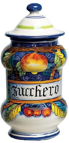 Discount Tuscan Decor | Tuscan Pottery - Beautiful Italian Ceramics Canisters in Vivid Designs