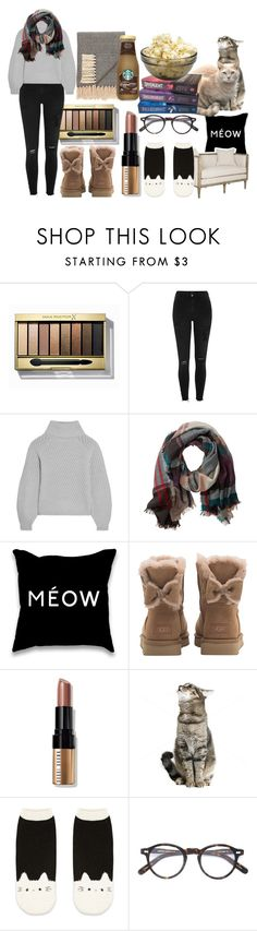 """Fall Chill Day"" by sammi-mo ❤ liked on Polyvore featuring Max Factor, River Island, Iris & Ink, TravelSmith, UGG, Bobbi Brown Cosmetics, Forever 21, Moscot, Trilogy and Jaipur"
