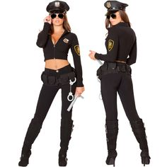 Sexy Roma Womens Seductive Cop Police Officer Hottie Halloween Costume Outfit | #Halloween