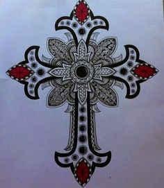 Zentangled cross