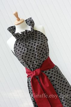 LOVE LOVE LOVE this dress!  They make a matching child-size one too...family picture time :)   NEW - Duchess... Women's Ruffler Dress with Removable Sash...by The Laughing Giraffe. $69.00, via Etsy.