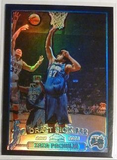 2003-2004 Topps Chrome Zaza Pachulia Black Refractor Rookie Card RC 333/500 SP #OrlandoMagic