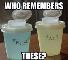 #oldschool #saltandpepper #tupperware