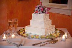 An enchanting three tier wedding cake for a special wedding!