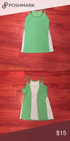 Sz S Champion workout top All eyes will be on you at the gym when you wear this flattering green and mint workout top! Perfect for spinning, yoga, or barre class! Champion Tops