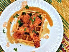 Sunday Supper: Savory-Sweet Buffalo Chicken and Waffles. #recipe
