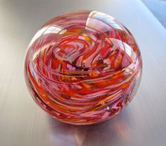 Romantic Heart Glass Paperweight by nautical2004 on Etsy, $20.00