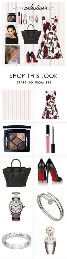 Stupid Cupid by amiic on Polyvore featuring:  Dolce&Gabbana, Christian Louboutin, CɉLINE, Cartier, Christian Dior, Marc Jacobs.  women's clothing, women's fashion, women and female