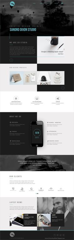 Clean and modern design responsive #Adobe #Muse template for creative #agency website download now..