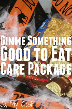 Make this spooky Halloween care package for a loved one! Perfect for deployed military, college students, and missionaries. Crafts For Teens To Make, Crafts To Sell, Easy Crafts, Diy And Crafts, Diy Craft Projects, Craft Tutorials, Craft Ideas, Diy Ideas, Halloween Care Packages