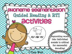 RTI & Guided Reading {Phoneme Segmentation} Segmenting words into individual sounds is critical for successful decoding!RTI & Guided Reading {Phoneme Segmentation} Segmenting words into individual sounds is critical for successful decoding! Reading Intervention, Reading Skills, Teaching Reading, Guided Reading, Teaching Ideas, Reading Response, Kindergarten Language Arts, Kindergarten Literacy, Literacy Stations