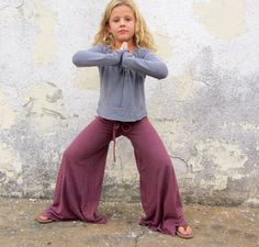 Girls  Wanderer Pant  light hemp Knit organic by gaiaconceptions, $85.00