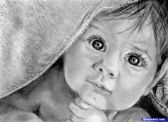 Image result for simple realism drawing of baby