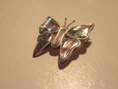 Vintage Alpaca Butterfly Brooch by AntiqueAlchemists on Etsy, $10.00