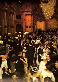 Lee Radziwill dancing at Truman Capote's Black and White Ball, 1966