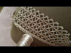 Crochet Flower Tutorial, Crochet Flowers, Crochet Lace, Free Crochet, Crochet Borders, Crochet Stitches Patterns, Stitch Patterns, Crochet Video, Creative Embroidery