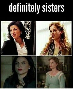 〖 TAGS: Once Upon a Time Zelena Regina Mills Evil Queen Wicked Witch of the West sisters Evil Regal funny 〗 Best Tv Shows, Best Shows Ever, Favorite Tv Shows, Movies And Tv Shows, Once Upon A Time Funny, Once Up A Time, Outlaw Queen, Emma Swan, Camisa Do Star Wars