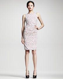 Dolce & Gabbana Polka-Dot Ruched Dress