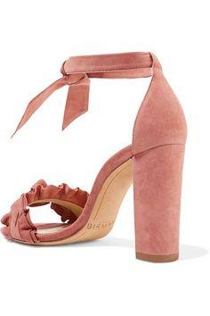 Alexandre Birman - Lupita Ruffle-trimmed Suede Sandals - Antique rose - IT39