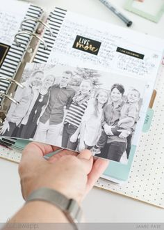 FIve Ways to Add Photos to Your Memory Planner | @jamiepate for @heidiswapp