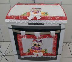 Kit fogão Corujinha na estampa vermelho